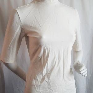 Adidas Ivory Turtle Collar Neck Short Sleeve 12